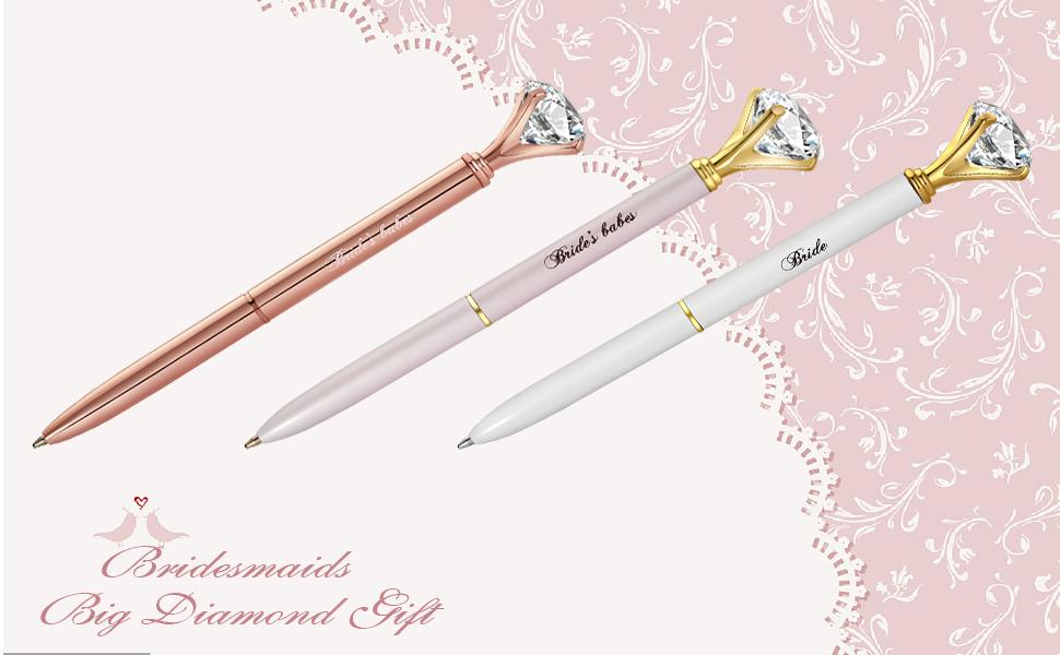 Bridesmaids diamond pens gift