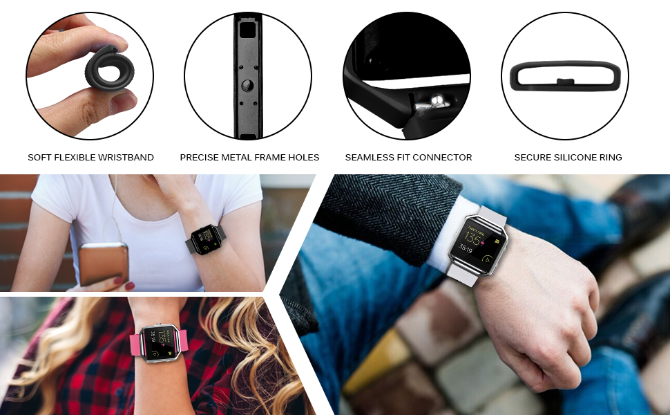 soft wristband compatible with fitbit blaze watch