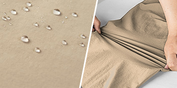 water-resistant and stretchy