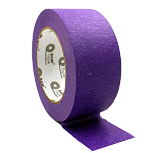 purple colored masking tape wide width adhesive paper tape art arts crafts painter painter's kit