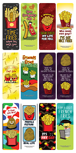 Funny Fries Puns Jokes Bookmarks