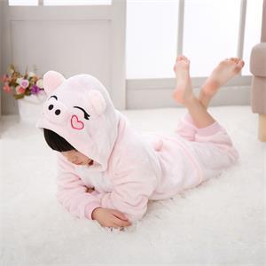 Pink Pig onesie pajamas