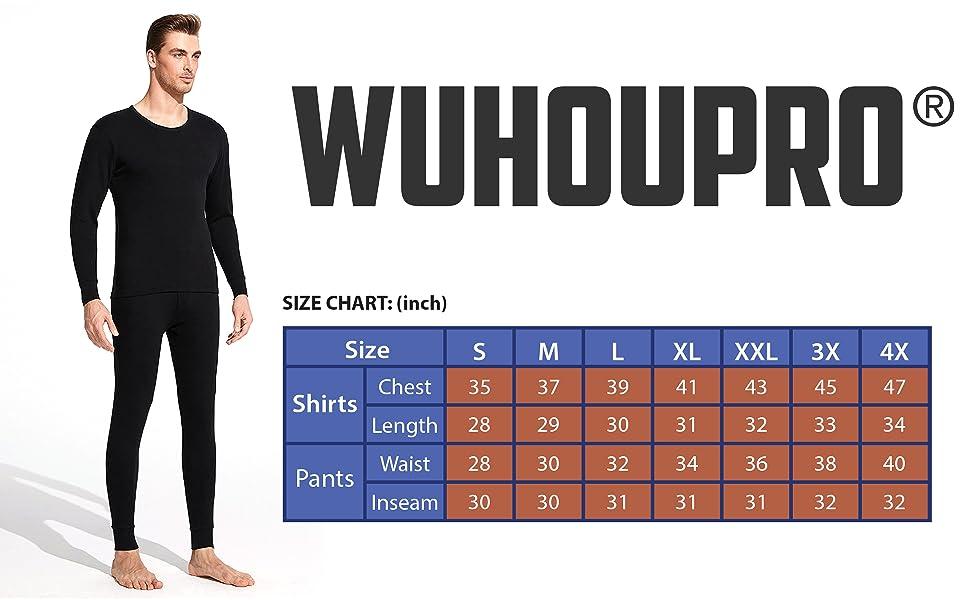WUHOUPRO Men's Thermal Underwear Set