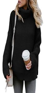 Women Turtleneck Chunky Sweaters