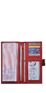 Chequebook wallet with pen Holder