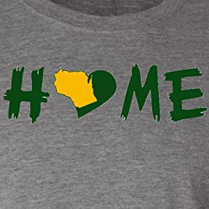 Hometown Hoodies Home Green Bay Packers Colored Tshirt