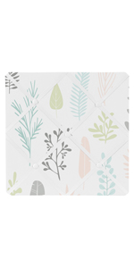 Pink and Grey Tropical Leaf Fabric Memory Memo Photo Bulletin Board