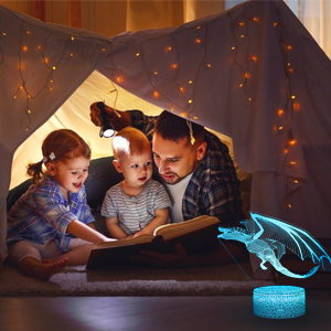 dragon night light can be as a gift for boys.