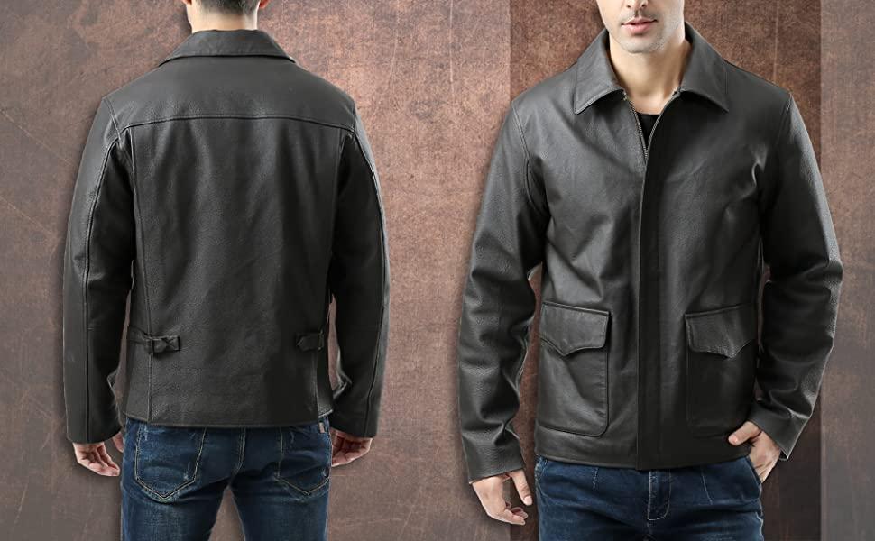 Landing Leathers Leather Jacket CloseUp