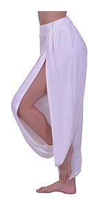 Lofbaz Yoga High Slit Pants White