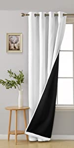 double layer blackout curtains