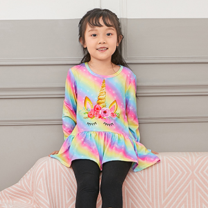 Kids Girls Winter Spring Tops Tee Shirts