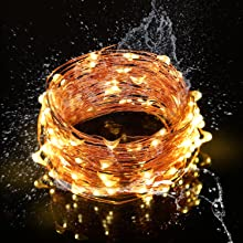 waterproof safe led warm white fairy lights copper wire party wedding usb battery twinkle outdoor
