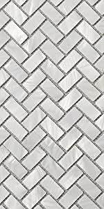 Soulscrafts Pure White Oyster Mother of Pearl Square Shell Mosaic for Kitchen Backsplashes-13