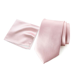 spring notion, blush pink, rose, hanky, neck ties, men, accessories, satin, microfiber, polyester