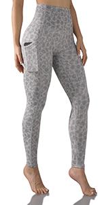 ODODOS Printed Yoga Capris Leggings