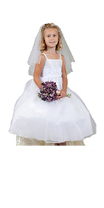 Girls' First Communion Veils with Bow