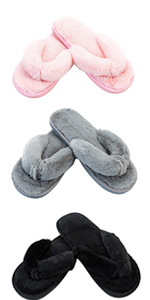 womens slippers fuzzy flurry thong slippers house shoes