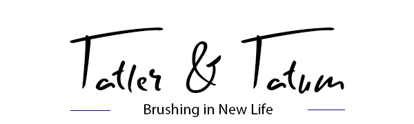 Tatler & Tatum logo in bold black our for chalk paint and wax brush
