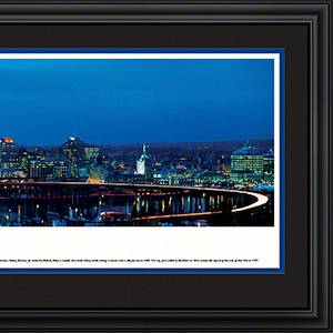 Albany at twilight with deluxe frame