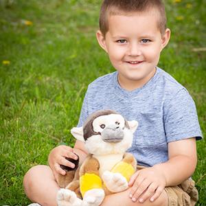 plush squirrel monkey stuffed animal wildlife toy