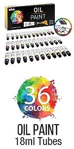36 Color Oil Paint 18ml