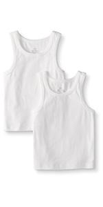 Boys Organic Cotton Tank Undershirt 2pk