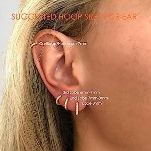 cartilage earring,hoop earrings for cartilage,cartilage hoop earrings,small hoop earrings for women