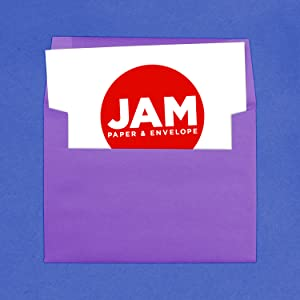 purple A7 colored envelope