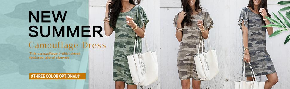 Camouflage Shift Dress