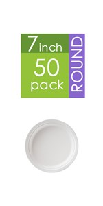 7 Inch Paper Plates,Heavy-Duty Plate, Natural  Bagasse Plate,round paper plate