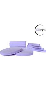 Facial Sponge Compressed,60 Count Purple PVA Professional