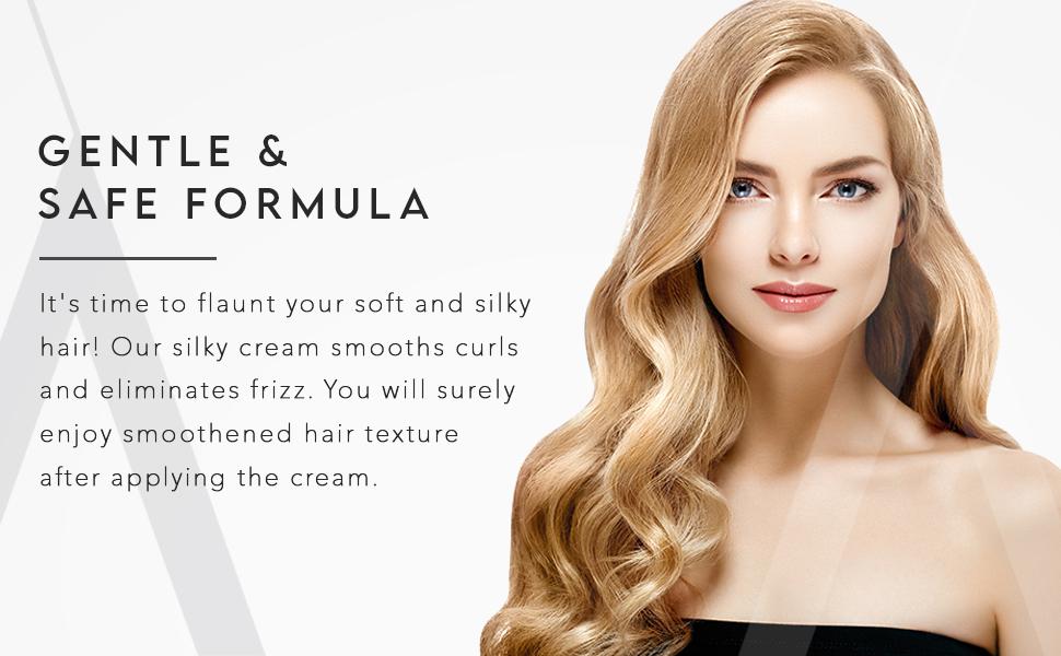 Gentle hair smoothing cream