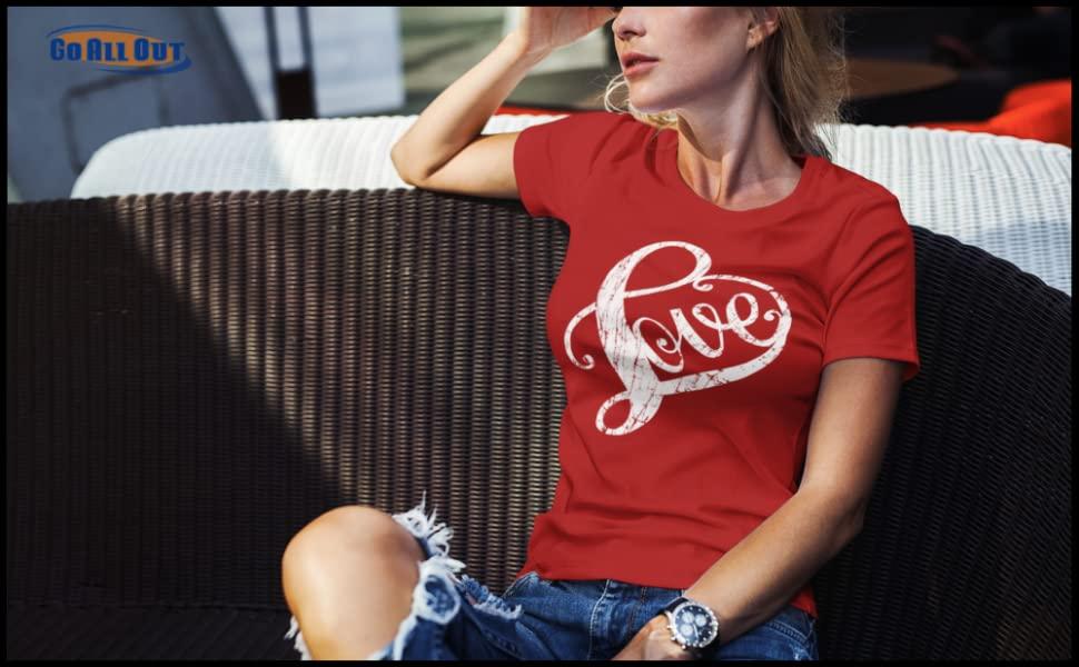 Cursive Love Womens T-Shirt