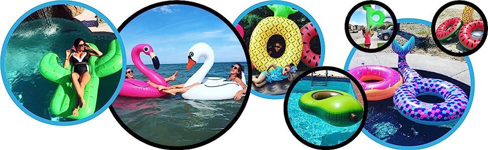 Fun Pool Float Tube Raft