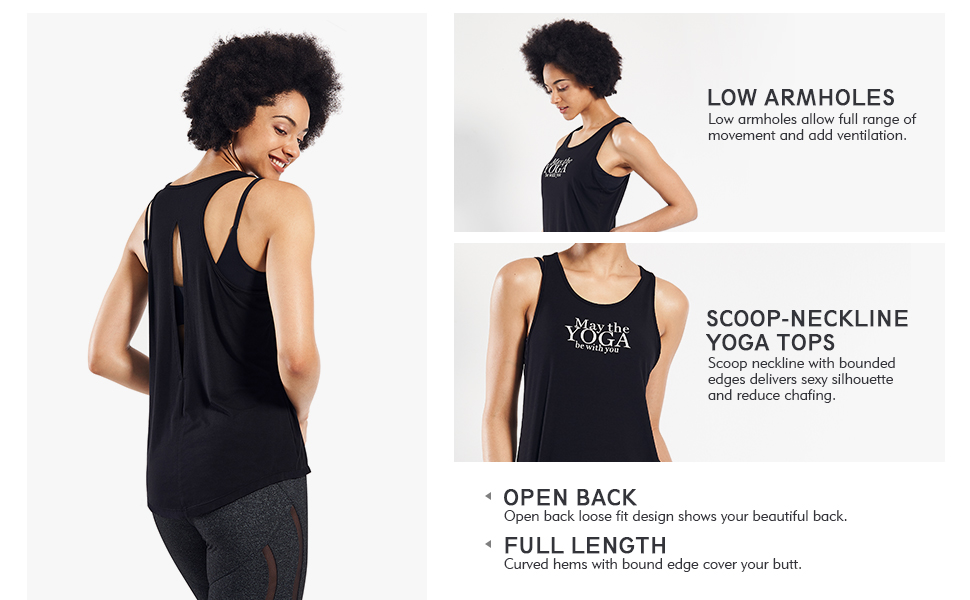 Women's Yoga Workout Tank Tops Active Yoga Sleeveless T Shirt Loose Fit