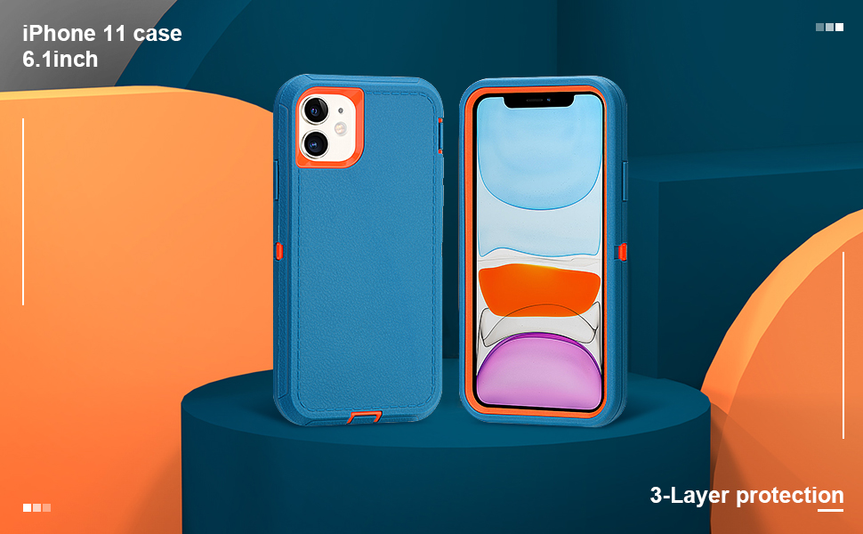 iphone 11 case 6.1 inch 3-Layer Protective