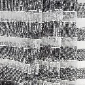 stripe curtains, kitchen curtains