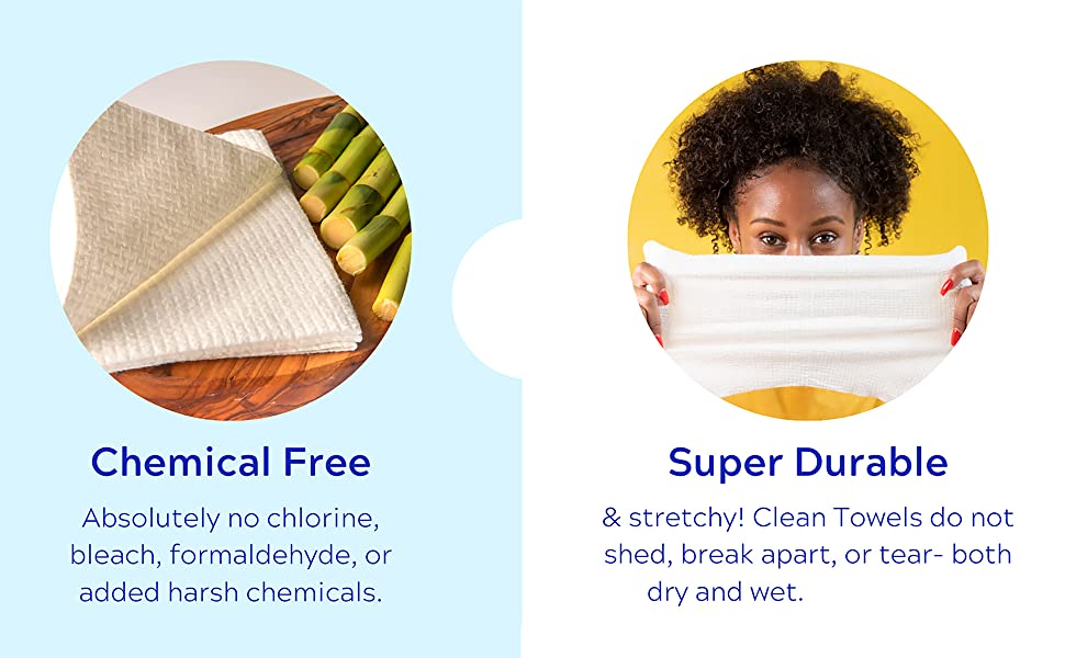 clean skin club , thick , towels , towelettes , wipes , for face , makeup remover , durable , soft