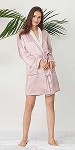 silk robe for women