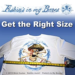 Get the right size from Rattlin Jack UPF Sun Protection Moisture wicking Long Sleeve Fishing Shirts