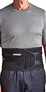 man wearing Aspen QuikDraw PRO back brace
