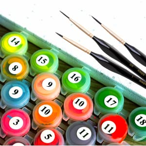 paint by numbers for adults brush set