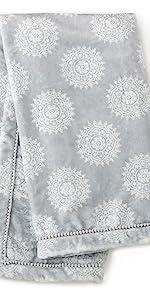 grey plush blanket baby levtex willow