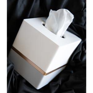 designers home decor, bathroom accessories, tissue box cover, white, gray, grey, square