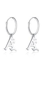 Letter A earrings