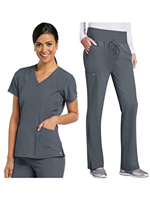 barco one 5105-5206 women's scrub set medical healthcare uniforms fashion