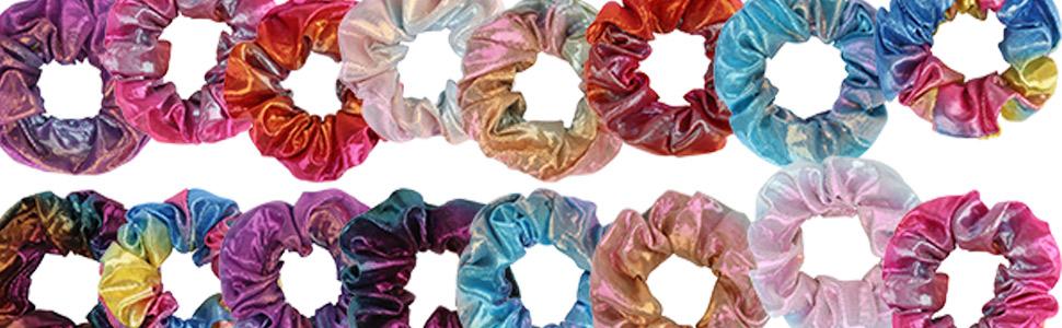 gradient mermaid colors hair ties