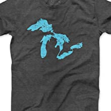 Great Lakes outline short sleeve shirt