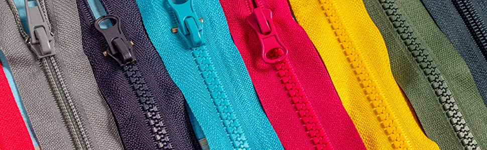 Mandala Crafts Long Heavy Duty Plastic Zipper by the Yard for Backpacks Sewing Upholstery